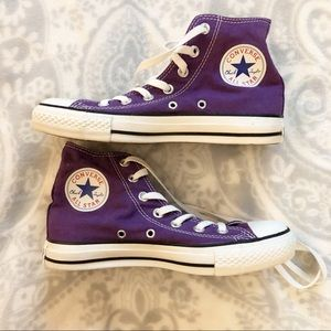 Converse All Star High Top Sneakers Purple Unisex